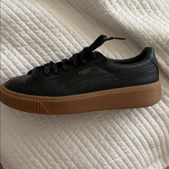 puma leather platform